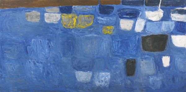 William Scott - Blue, yellow and brown