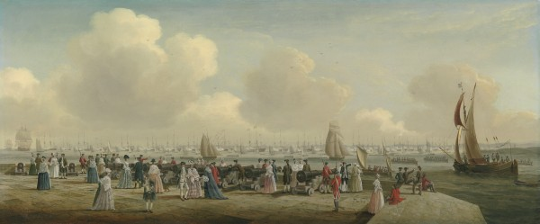 King George III reviewing the Fleet at Spithead, off Portsmouth Harbour