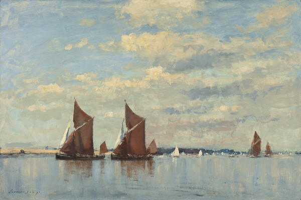 Edward Seago - Spritsail barges under sail