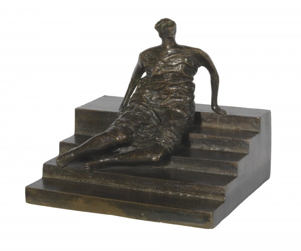 Henry Moore - Maquette for Figure on Steps