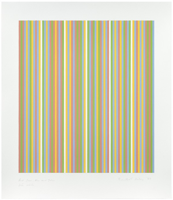 Bridget Riley - YGBR. Four colours, visual violet