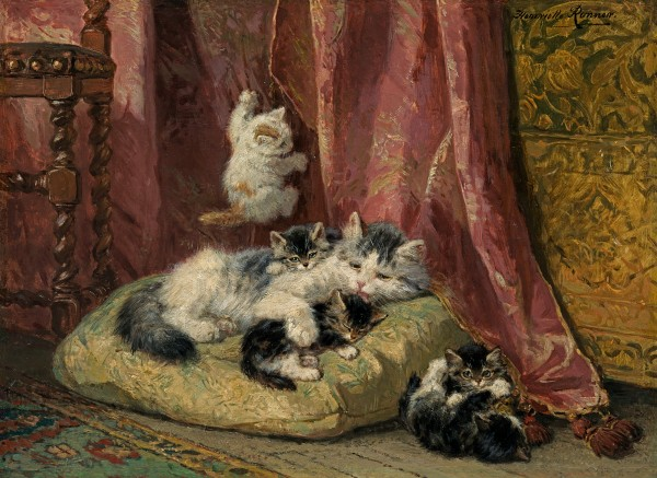 Henriette Ronner-Knip - Kittens at play