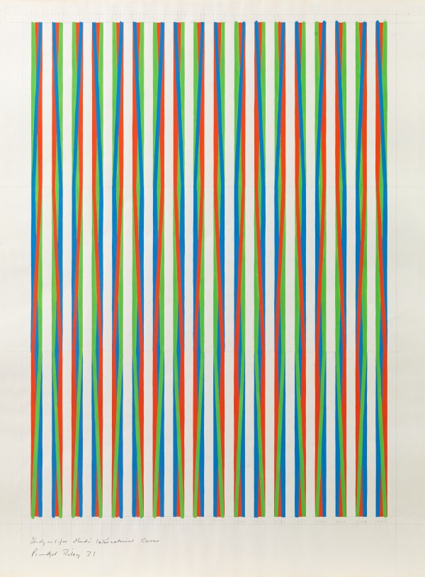 Bridget Riley - Study no. 1 for Studio International Cover