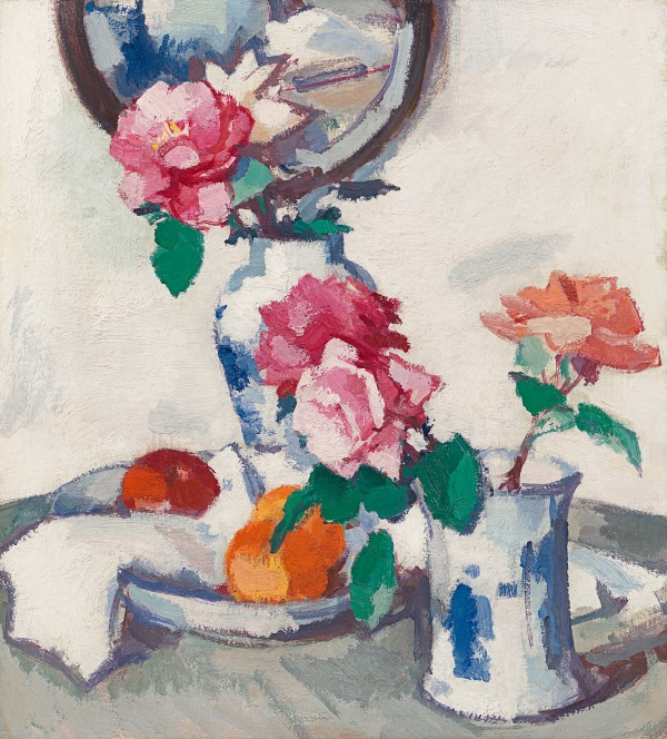 Samuel John Peploe - Still life with roses & fruit