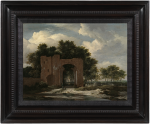 Jacob Isaacksz. van Ruisdael - A ruined castle gateway, probably the archway of Huis Ter Kleef near Haarlem