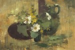 Edward Seago - Flower study in green and yellow