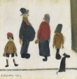 Laurence Stephen Lowry - Figures with a dog