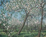 Christopher Richard Wynne Nevinson - The Apple Orchard - The Bath Road