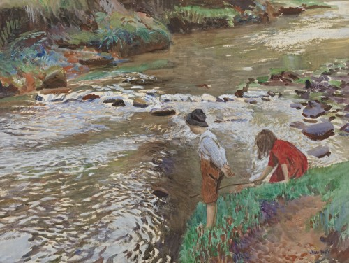 Dame Laura Knight - The two fishers