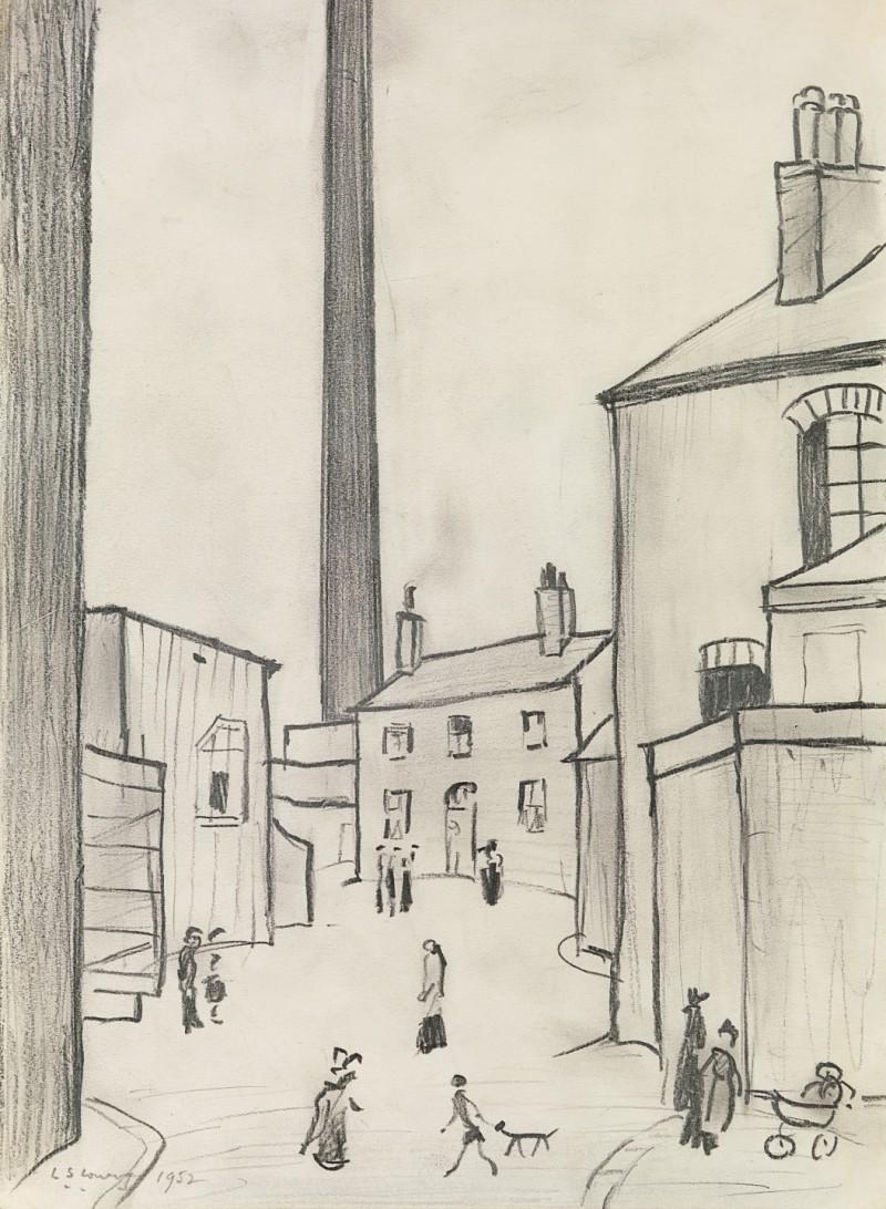 Laurence Stephen Lowry - A street in Droylsden