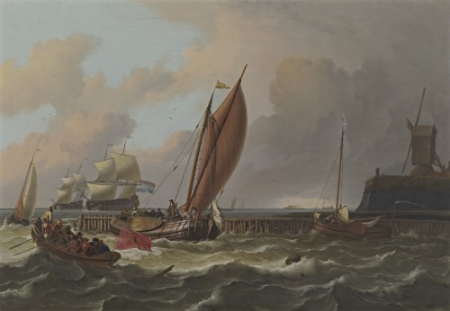 Ludolf Backhuysen - Tsar Peter the Great's boeier off Amsterdam