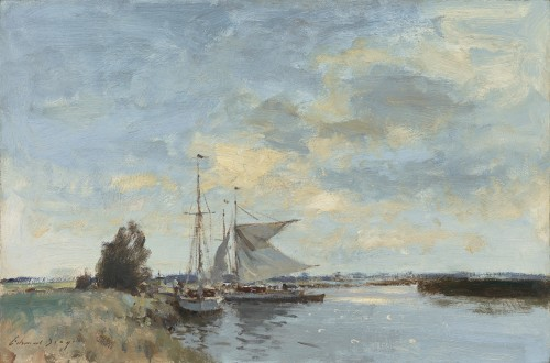 Edward Seago - Yachts on the River Ant