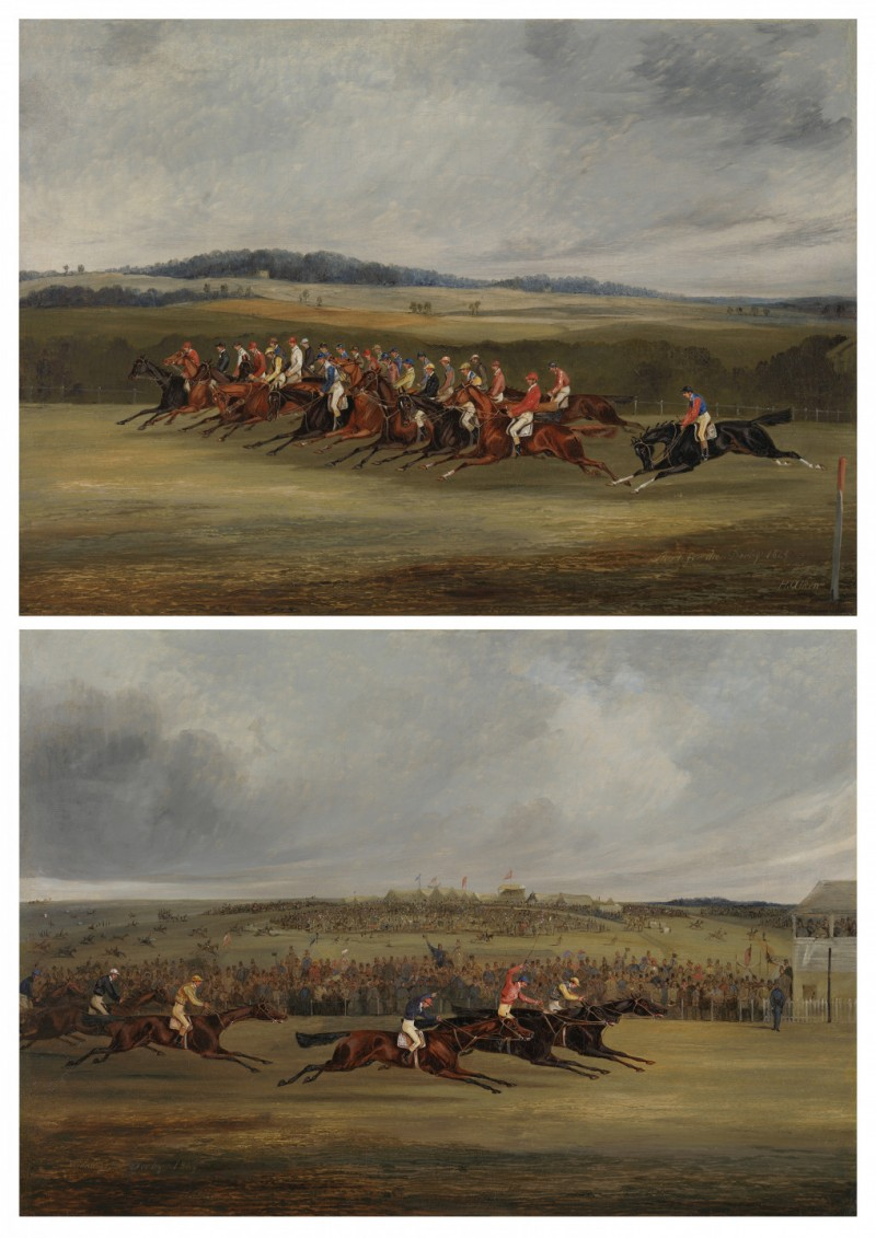 Henry Alken Senior - The Start of the 1849 Derby ; The Finish of the1849 Derby