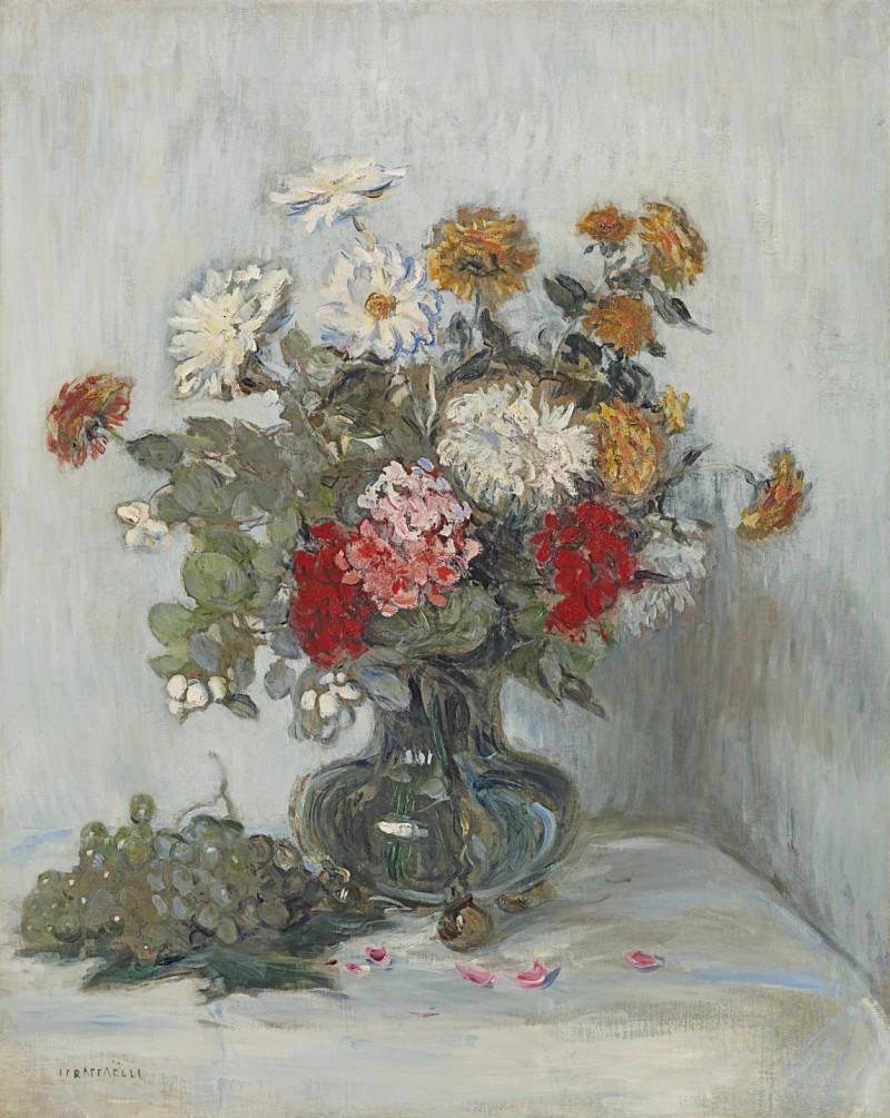 Jean Francois Raffaelli - Fleurs et raisins
