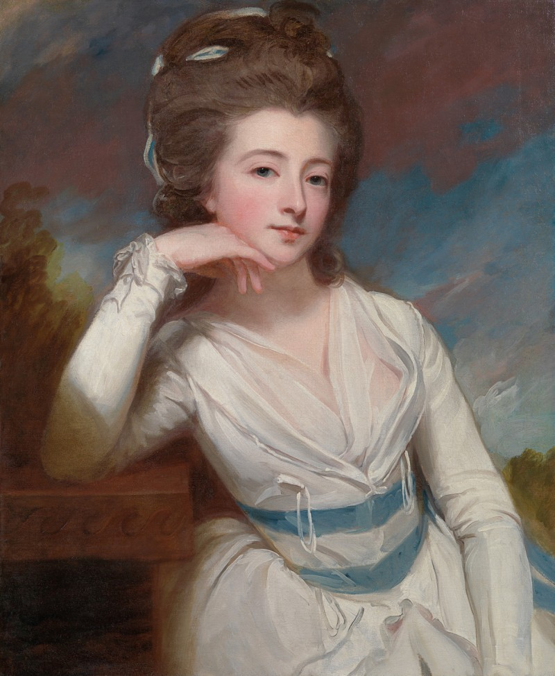 George Romney - Portrait of Mrs Elizabeth Burgoyne (b.c.1761-1836)