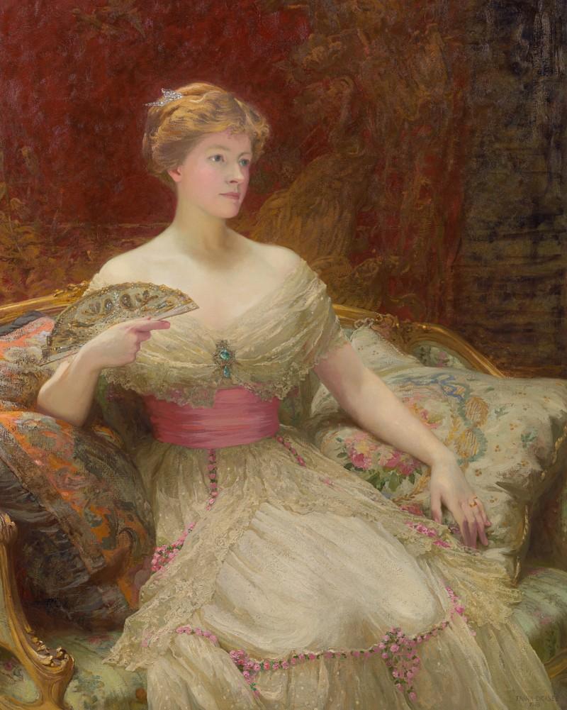 Sir Frank Dicksee - Portrait of Mrs Austin Mackenzie (1870-1948)