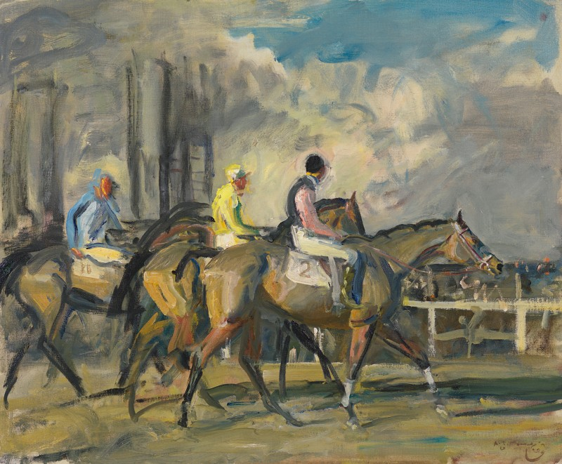 Sir Alfred Munnings - After the Steeplechase at Newbury