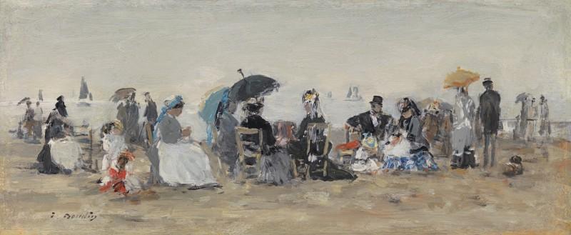 Eugene Boudin - Trouville, scène de plage