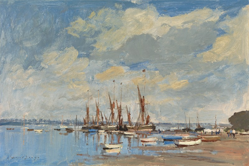 Edward Seago - Thames barges assembled at Pin Mill