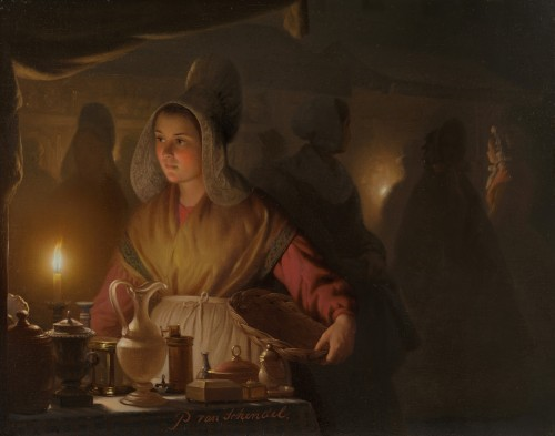 Petrus van Schendel - Study for The Fair of Breda