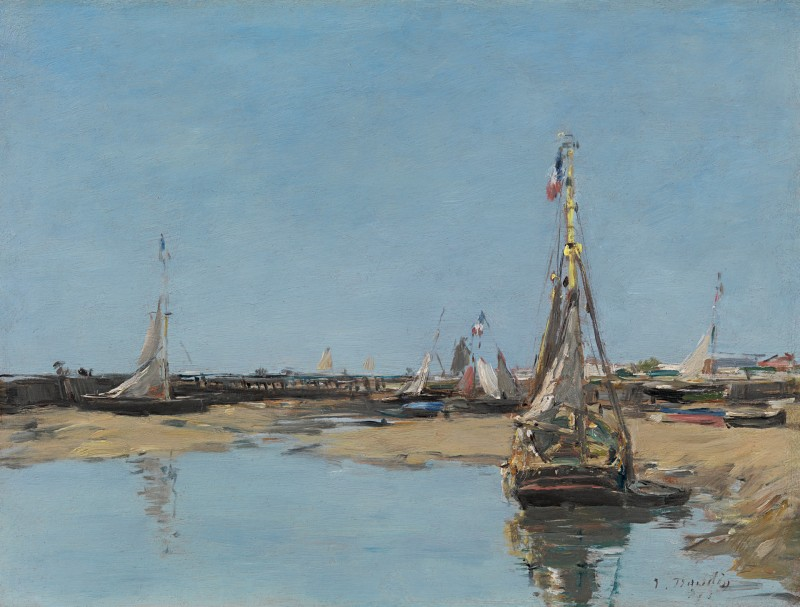 Eugene Boudin - Trouville, les jetées marée basse