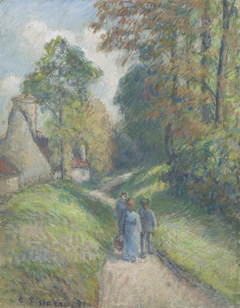 Camille Pissarro - Paysage avec trois paysans