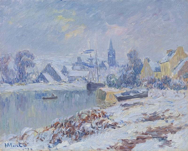 Henry Moret - Quimper - Locmaria sous la neige