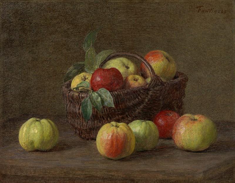 Henri Fantin-Latour - Pommes dans un panier sur la table