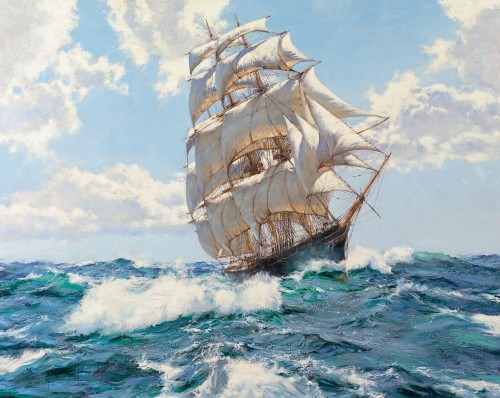 Montague Dawson - Fresh Winds, High Seas