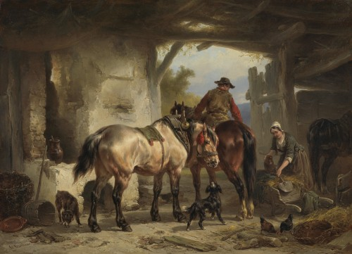 Wouterus Verschuur - In the stables