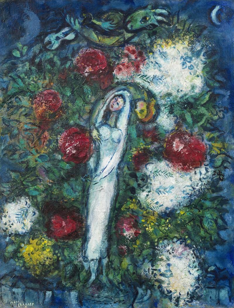 Marc Chagall - La mariée or Les amoureux aux fleurs