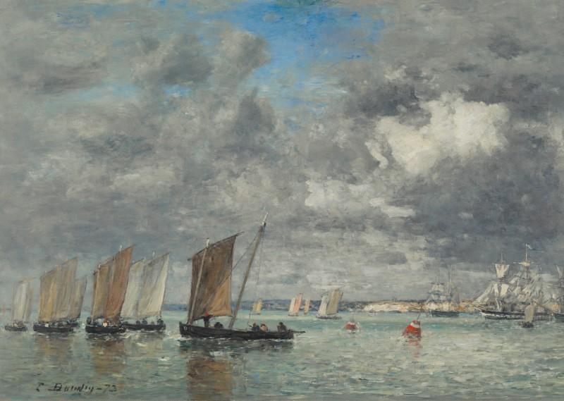 Eugene Boudin - Camaret, bateaux de peche