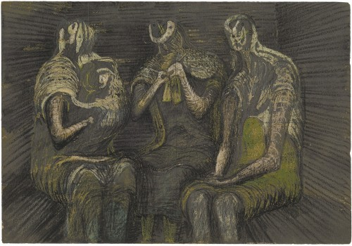 Henry Moore - Three Women in a Shelter