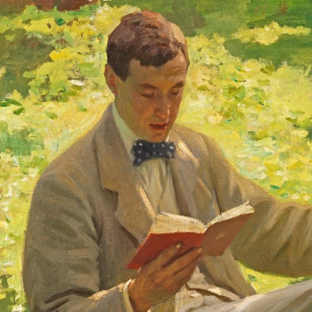 Alfred Munnings reading at Penlee House Gallery & Museum