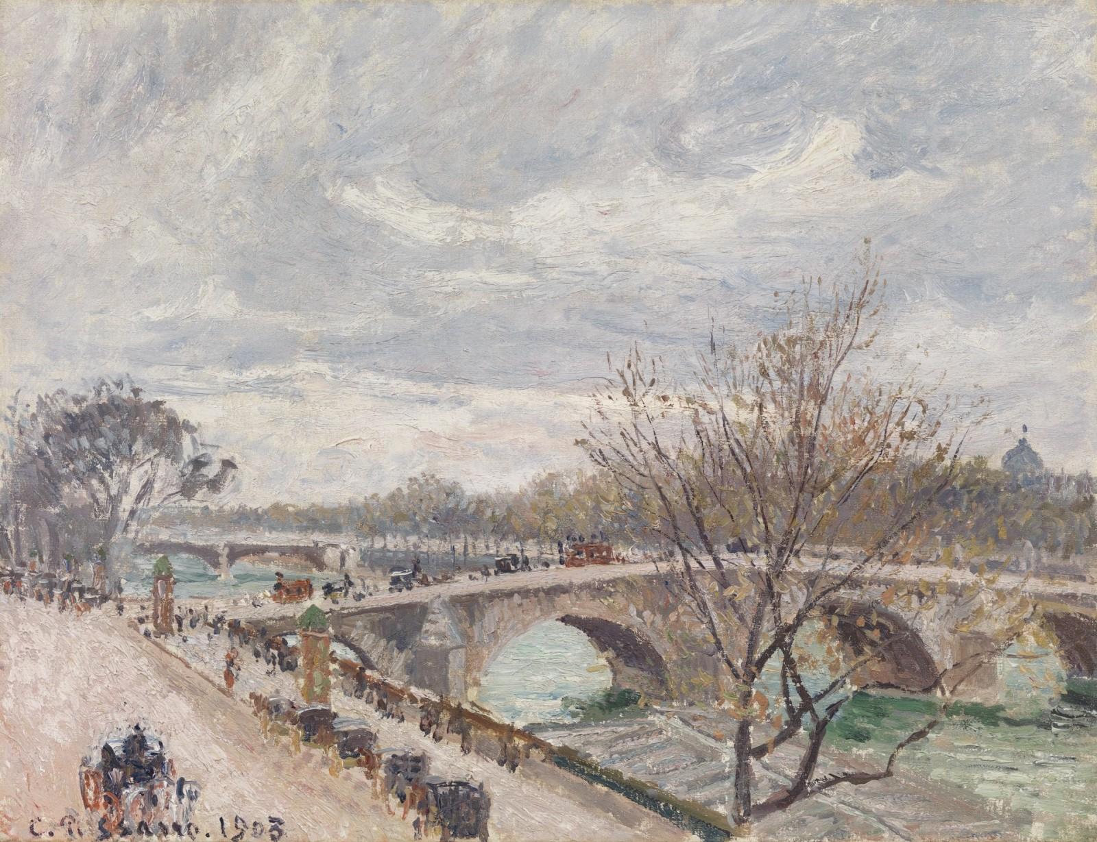 Camille Pissarro - Le Pont-Royal, après-midi, temps couvert, 4e série