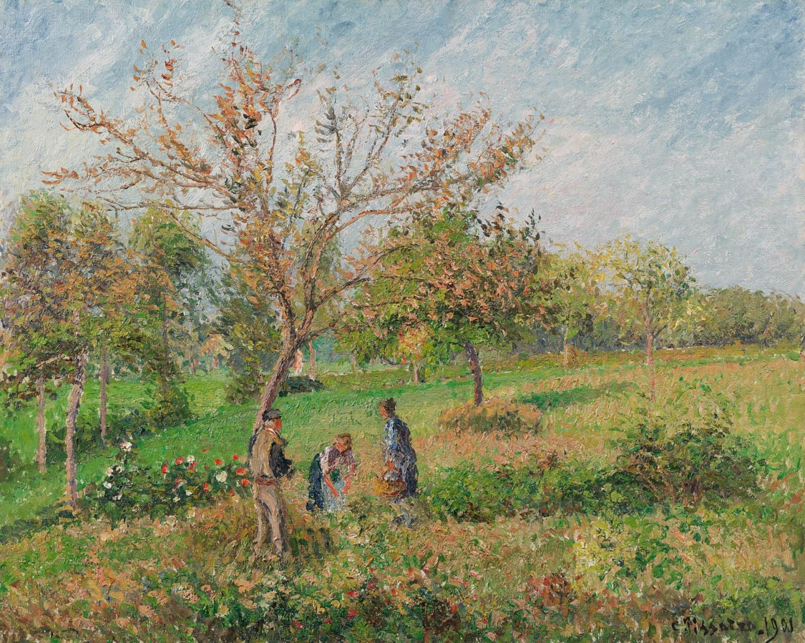 Camille Pissarro - Dans le pré en automne à Eragny