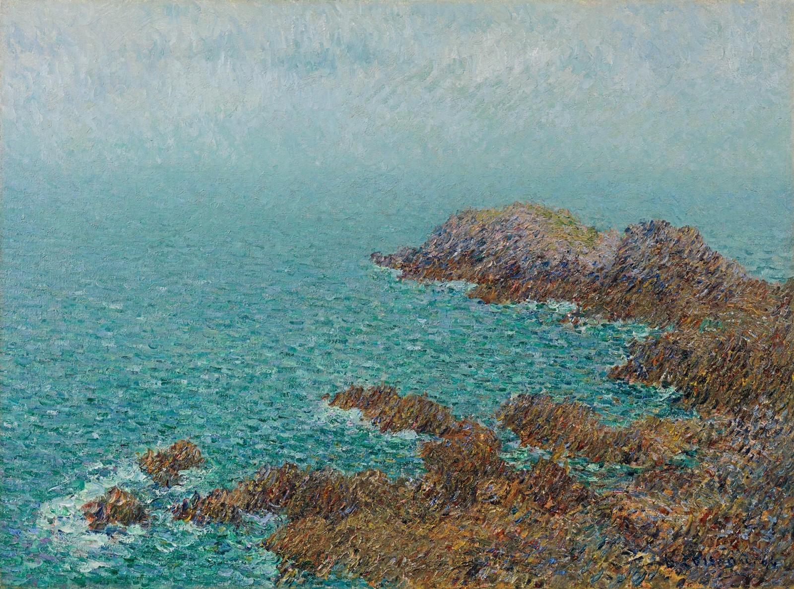 Gustave Loiseau - Falaises, Bretagne, les Rochers de Saint Lunaire (La Pointe du Décollé)
