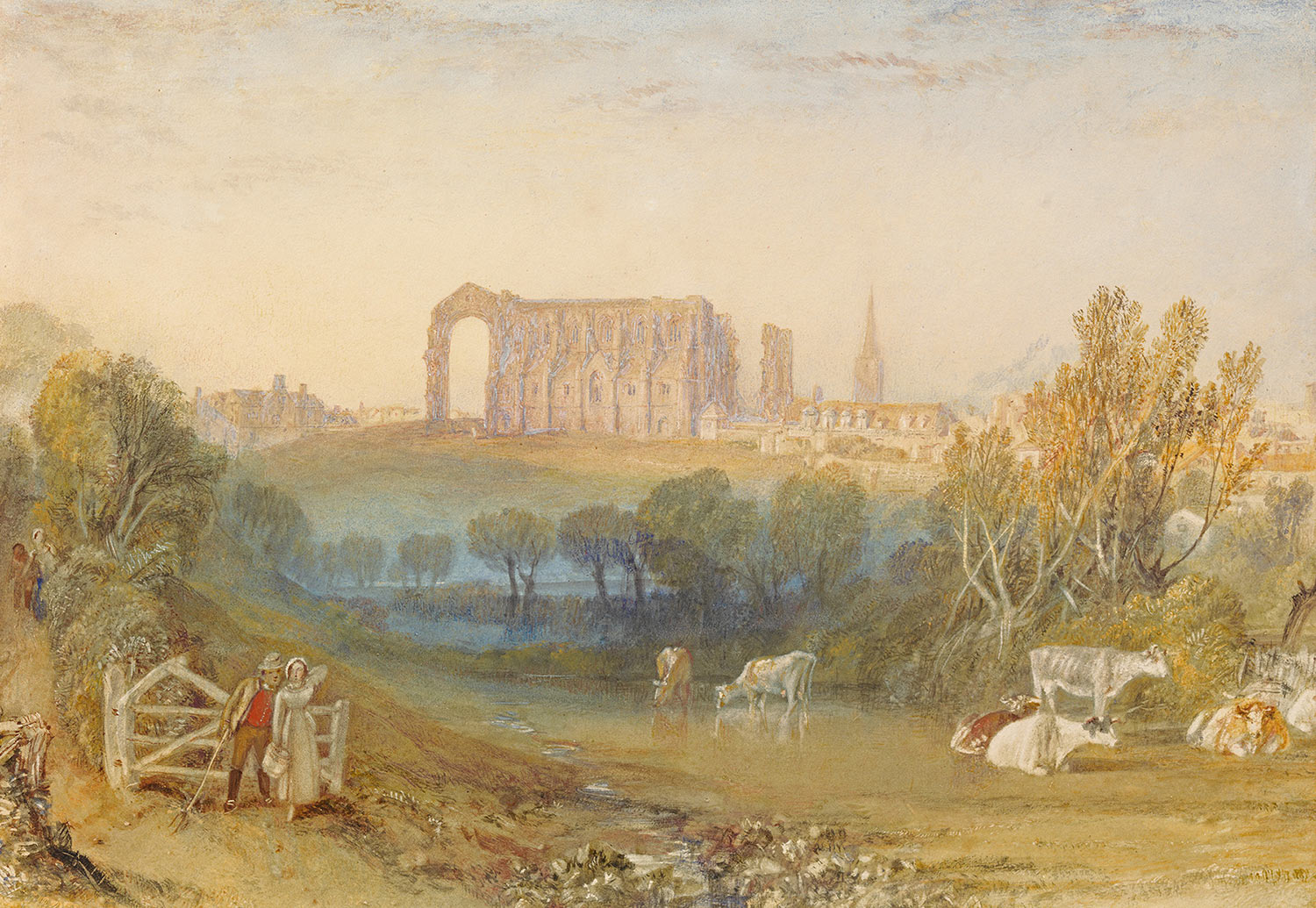 Joseph Mallord William Turner - Malmesbury Abbey, Wiltshire