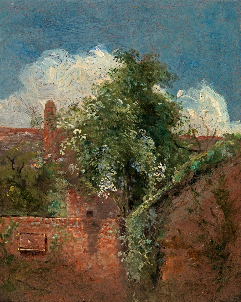 Cottage By The Sea After John Constable 19th Century Oil Painting